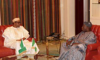 President Buhari receives former President Obasanjo