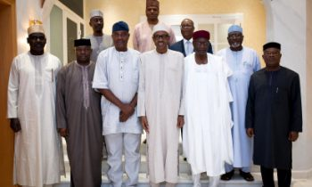 Buhari breaks Fast with Service Chiefs, hosts outgoing IGP, Arase