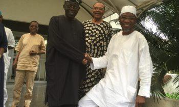 Aregbesola pays visit to his boss, Asiwaju Tinubu at bourdillion,ikoyi