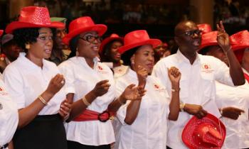 Wife of Lagos State Gov. Mrs. Bolanle Ambode, Sen. Oluremi Tinubu, others at musical youth fiesta 2016 at Eko Hotel