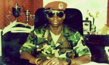 Throwback photo of defiant Gambian president, Yahya Jammeh, when he took over power 22 years ago