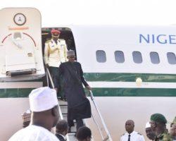 At last President Buhari arrives Nigeria