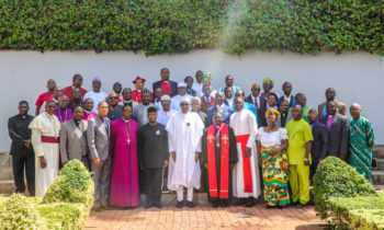 PRESIDENT BUHARI ,VICE PRESIDENT OSINBAJO AND LEADERS OF CHRISTIAN FAITHFUL AT SATE HOUSE ON 10TH NOV, 2017