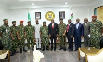 SECURITY: AMBODE VOWS TO SCALE UP SUPPORT FOR MILITARY OPERATIONS