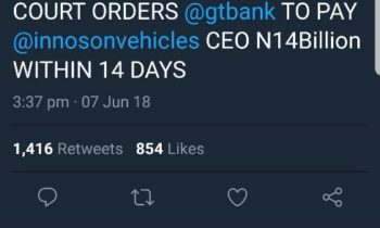 Innoson Fears Contempt of Court Charges, Deletes False Claim on Supreme Court from Social Media