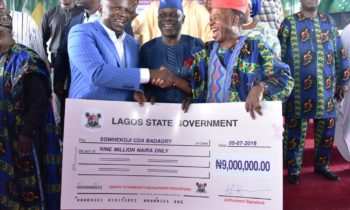 AMBODE GIVES N500M GRANT TO 275 COMMUNITY ASSOCIATIONS TO COMPLETE PROJECTS
