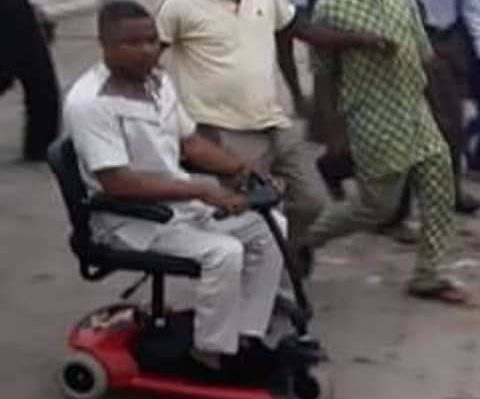 Yinka Ayefele watches on as his music house being demolished by  Oyo state government