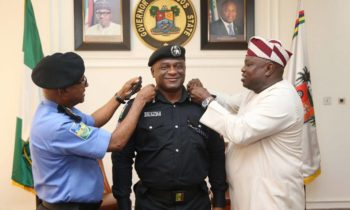 Ambode Decorates RRS Commander Tunji Disu With New Rank