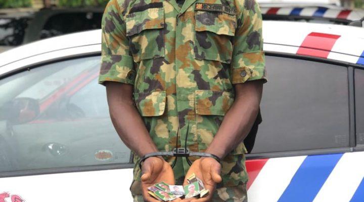 RRS Arrests Fake Soldier, Robber